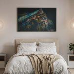 Chambre_claire, Déco, Décoration, Décoration d'intérieur, Home Staging, Tableau photo